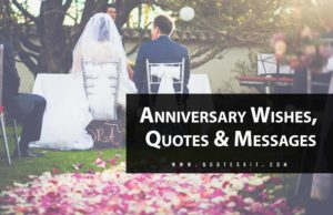 Top Best Anniversary Wishes, Quotes & Message [2020]