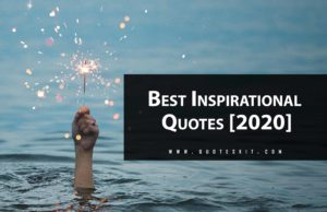 Top Best Inspirational Quotes about Life & Success [2020]