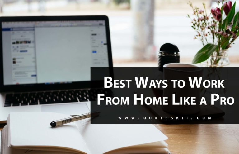 Top Best Ways to Work From Home Like a Pro